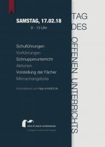 """Informationen zum """"Tag des Offenen Unterrichts"""" 2018"""