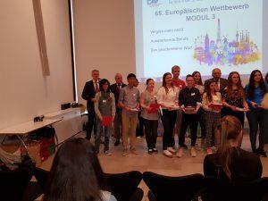 Bundessiegerehrung des 65. Europäischen Wettbewerbs im Hessischen Landtag in Wiesbaden